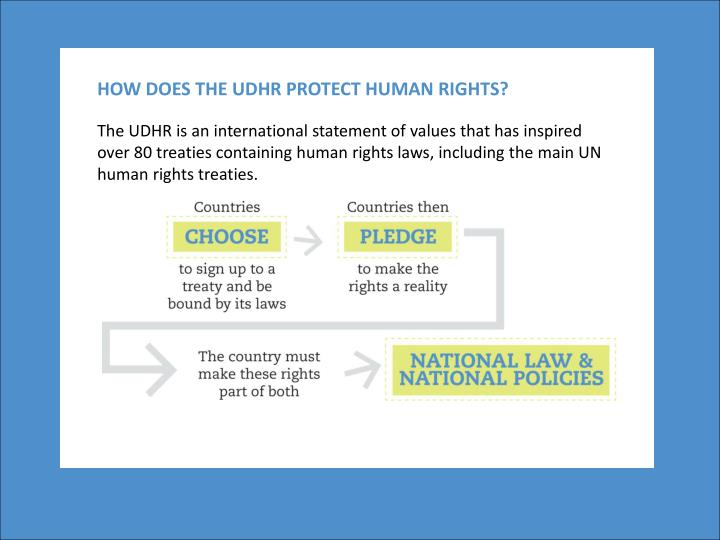 HOW DOES THE UDHR PROTECT HUMAN RIGHTS?