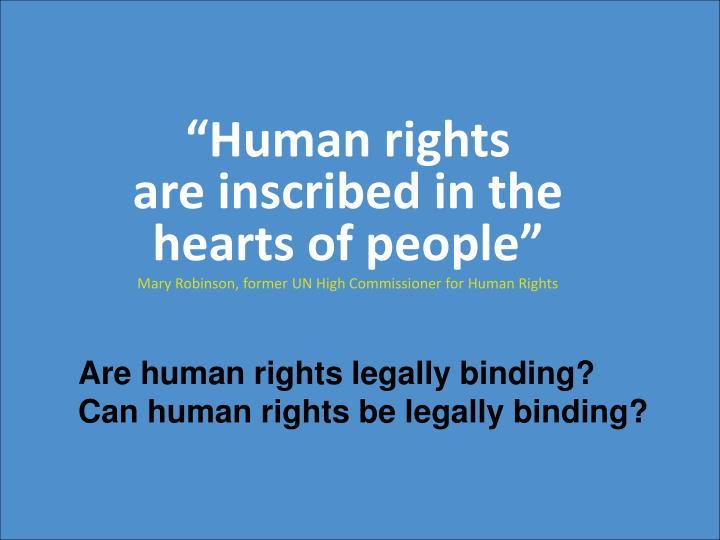 """""""Human rights"""