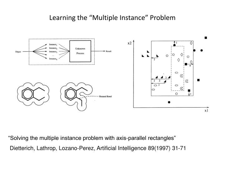 "Learning the ""Multiple Instance"" Problem"