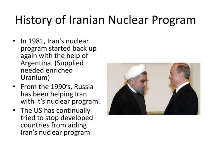 History of Iranian Nuclear Program