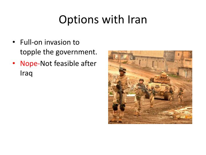 Options with Iran
