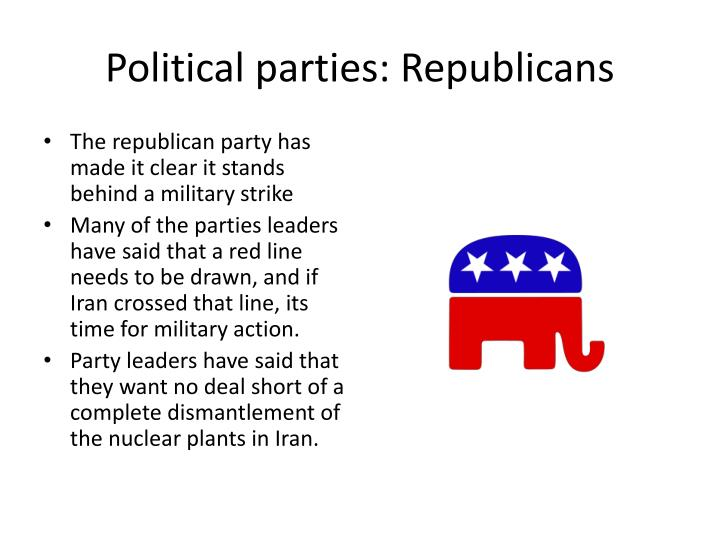 Political parties: Republicans