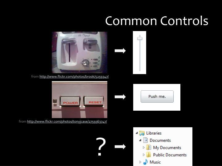 Common Controls