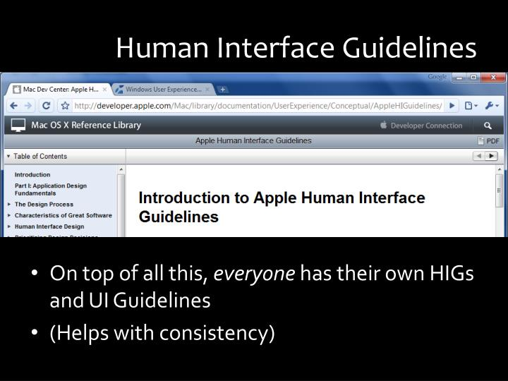 Human Interface Guidelines