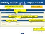 defining dataset import dataset