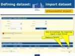 defining dataset import dataset2