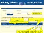 defining dataset search dataset