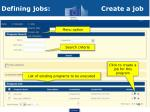 defining jobs create a job