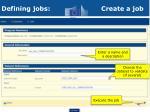 defining jobs create a job1
