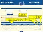 defining jobs search job