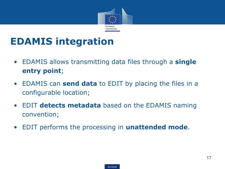 EDAMIS integration