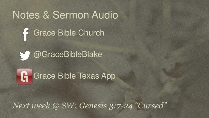 Notes & Sermon Audio