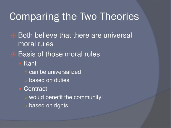 Comparing the Two Theories