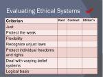 evaluating ethical systems1