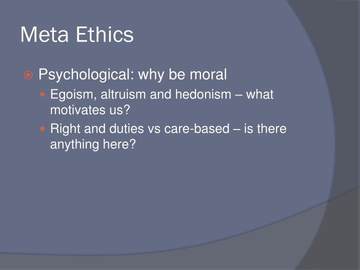 Meta Ethics