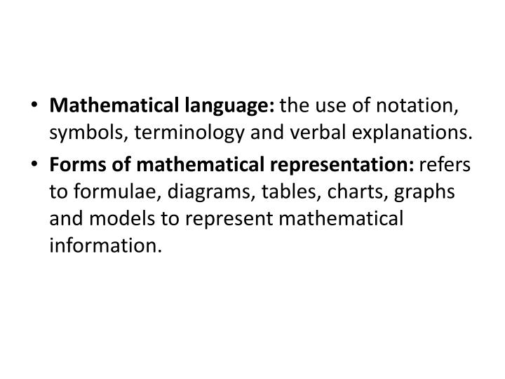Mathematical language: