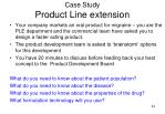 case study product line extension