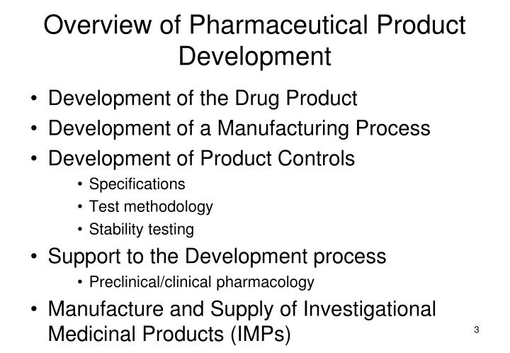 Overview of pharmaceutical product development1