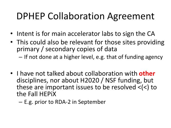 DPHEP Collaboration Agreement