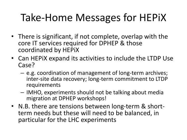 Take-Home Messages for