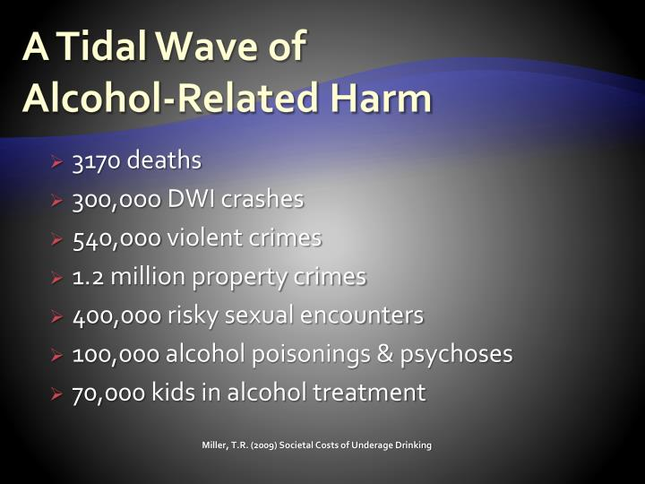 A tidal wave of alcohol related harm