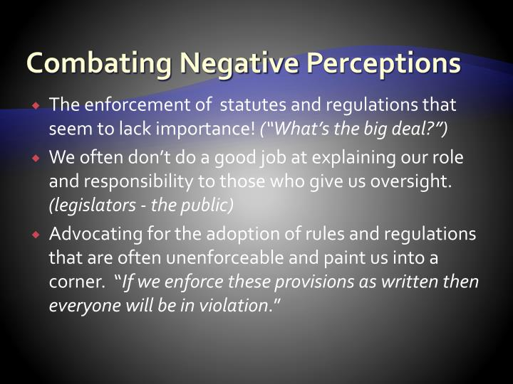 Combating Negative