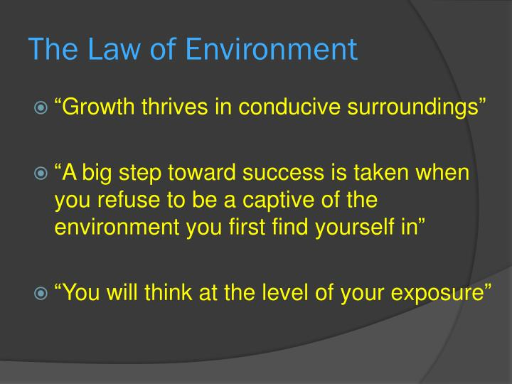 The Law of Environment