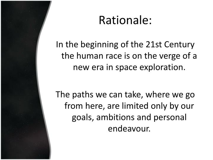 Rationale: