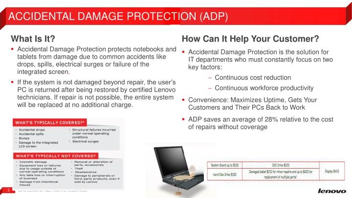 ACCIDENTAL DAMAGE PROTECTION (ADP)