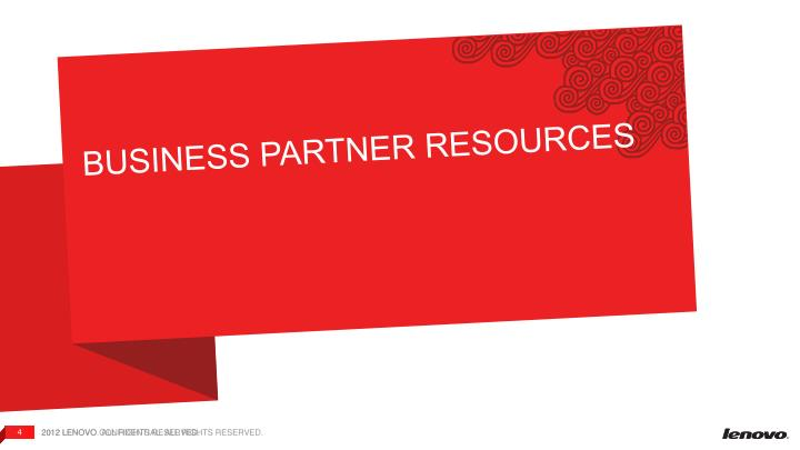 BUSINESS PARTNER RESOURCES