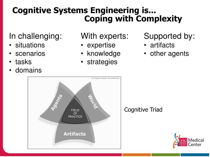 Cognitive systems engineering is coping with complexity