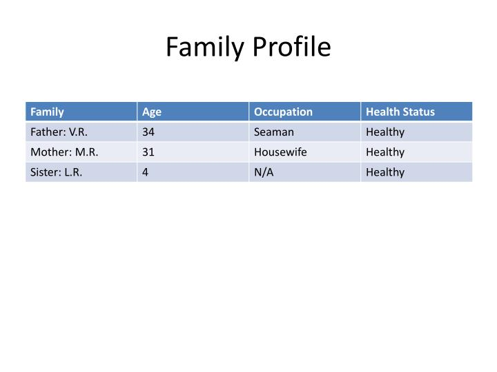 Family Profile