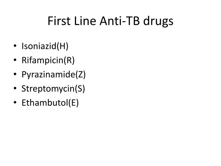 First Line Anti-TB drugs