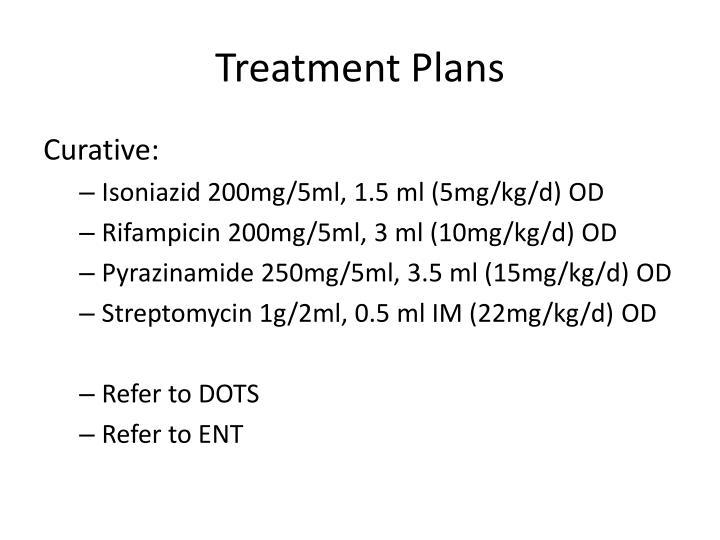 Treatment Plans