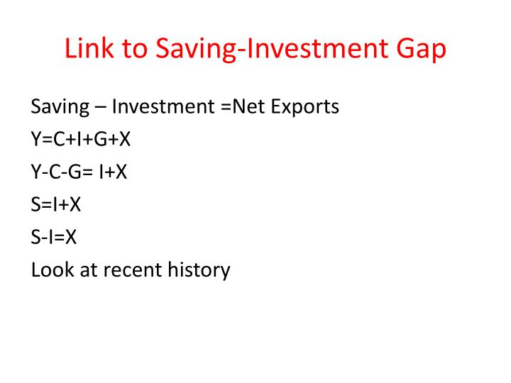 Link to Saving-Investment Gap