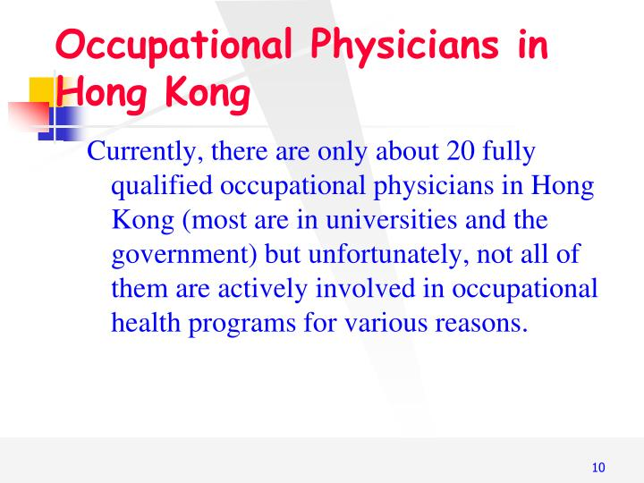 Occupational Physicians in Hong Kong