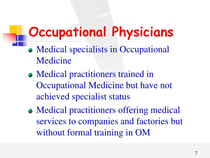 Occupational Physicians