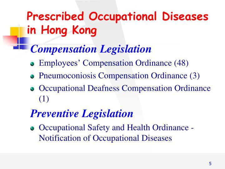 Prescribed Occupational Diseases
