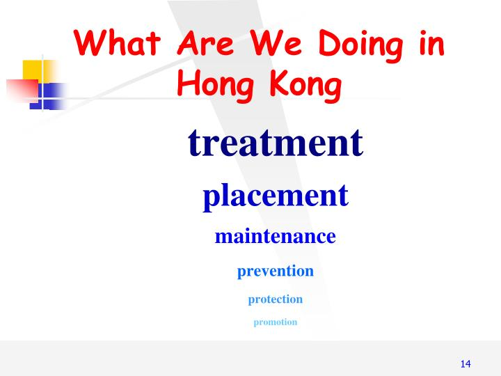 What Are We Doing in Hong Kong