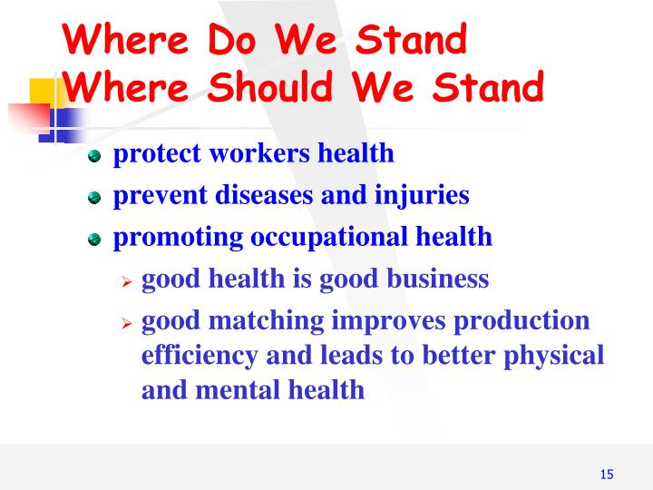 Where Do We Stand