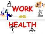 work and health