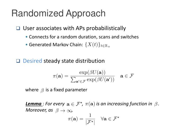 Randomized Approach