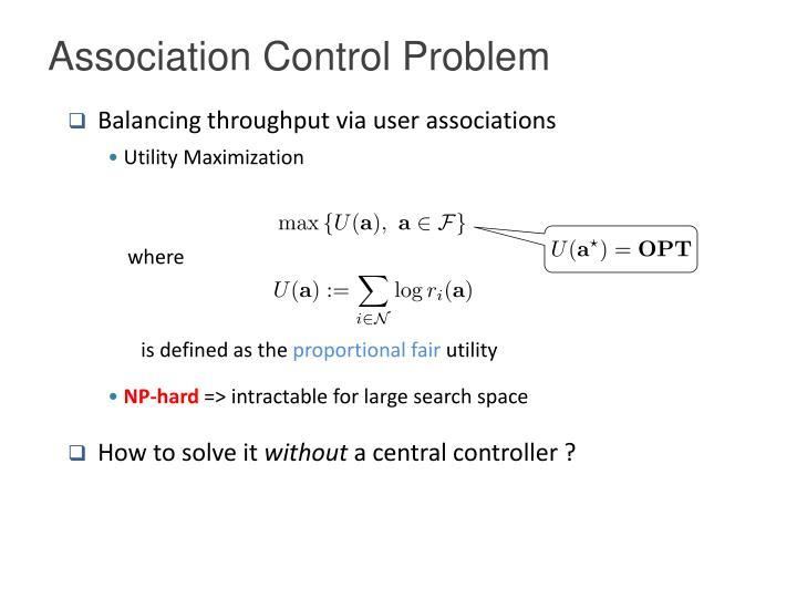 Association Control Problem
