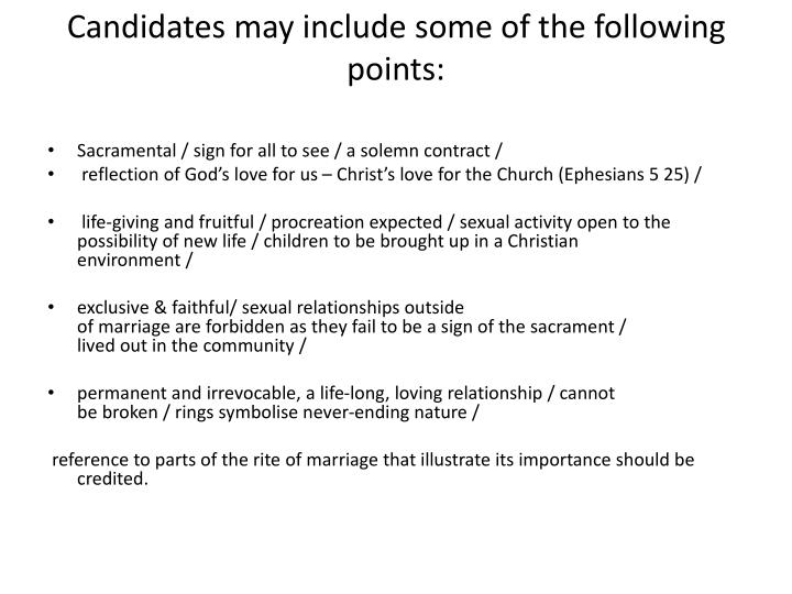 Candidates may include some of the following points: