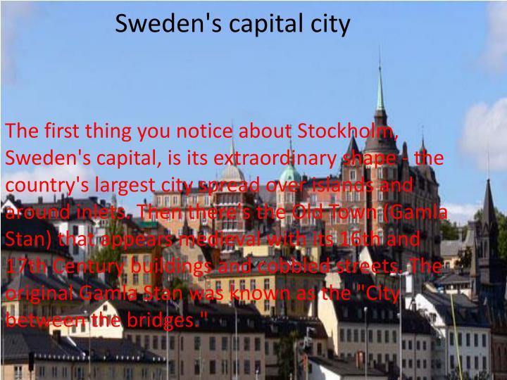 Sweden's capital city