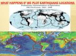 what happens if we plot earthquake locations