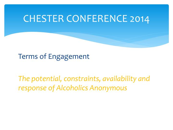 Chester conference 2014