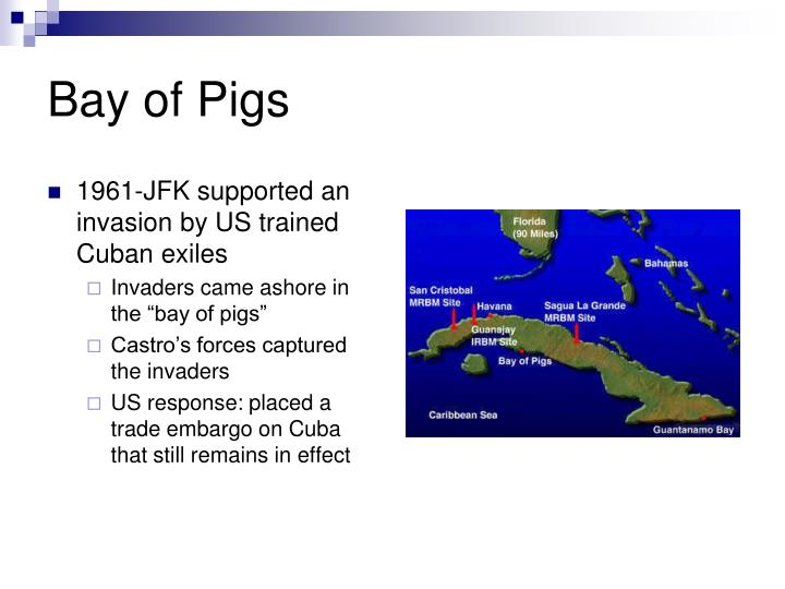 1961-JFK supported an invasion by US trained Cuban exiles