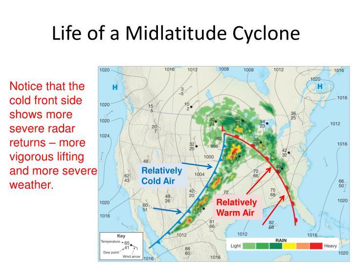 Life of a Midlatitude Cyclone
