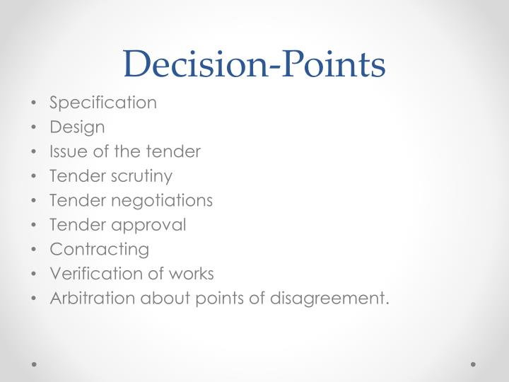 Decision-Points